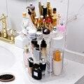 Органайзер для макияжа прозрачный акриловый вращающийся на 360 градусов настольный чехол для хранения DIY Съемная косметическая коробка для ...