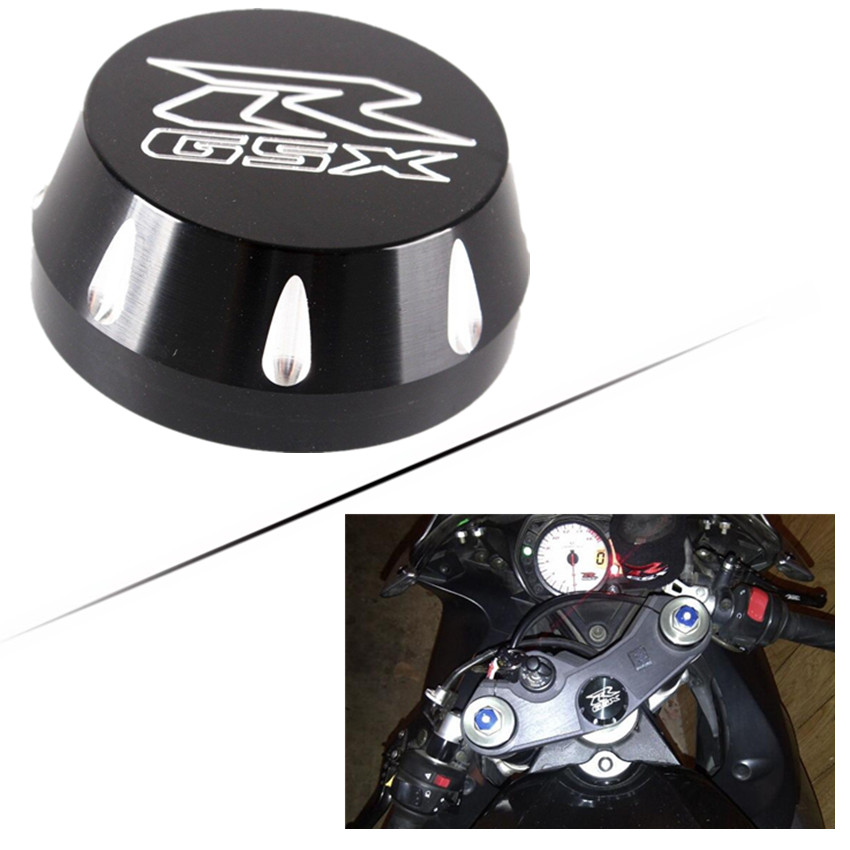 Motorcycle Triple Tree Stem Yoke Center Cap Cover Ball Cut For <font><b>Suzuki</b></font> <font><b>GSX</b></font>-R1000 2009-2017 <font><b>GSX</b></font>-R600/R750 2006-2017 Accessories image