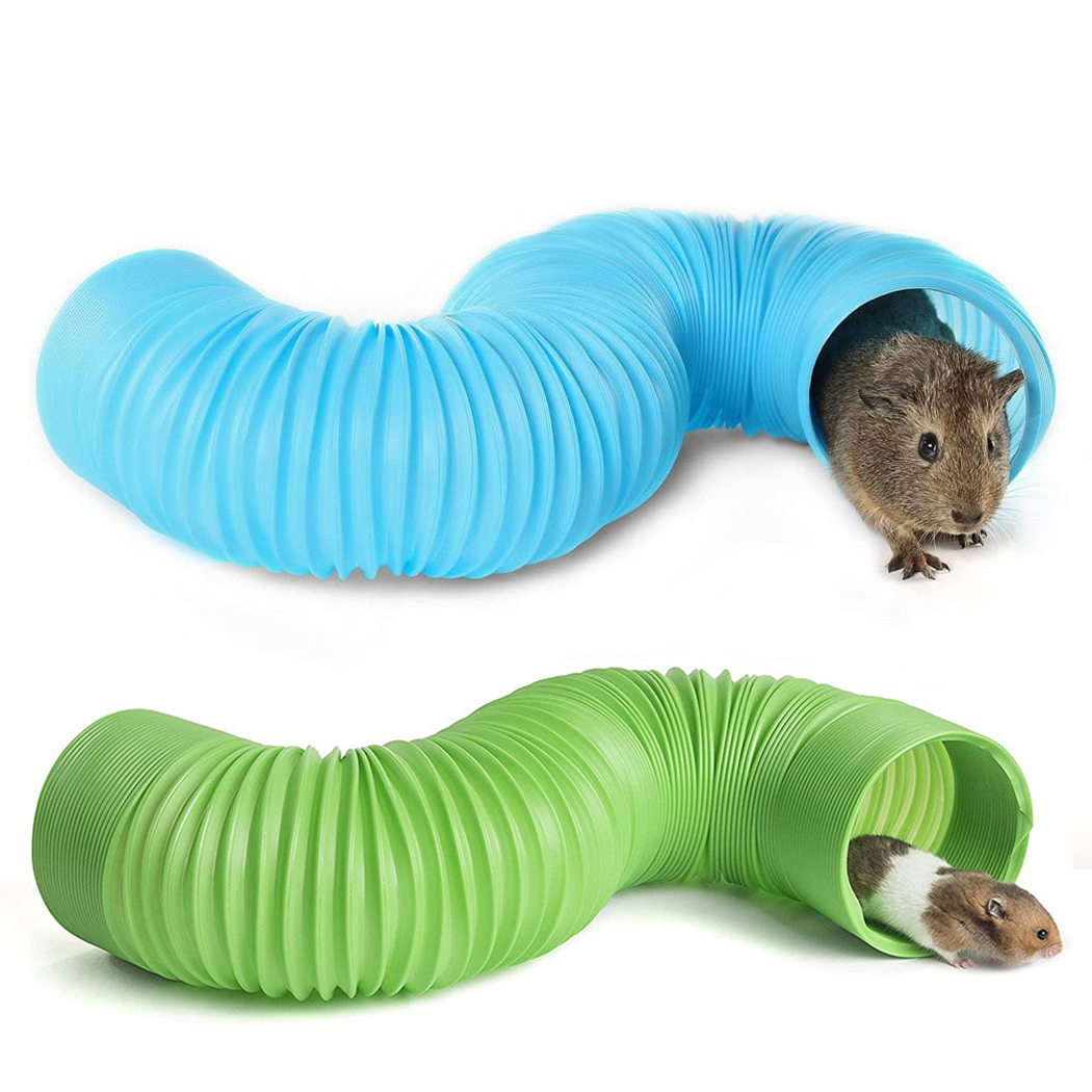 Plastic Hamster PipeTubes Training Play Connected External Tunnels Toys For Small Animals Ferrets Hamster Cages Product Supplies