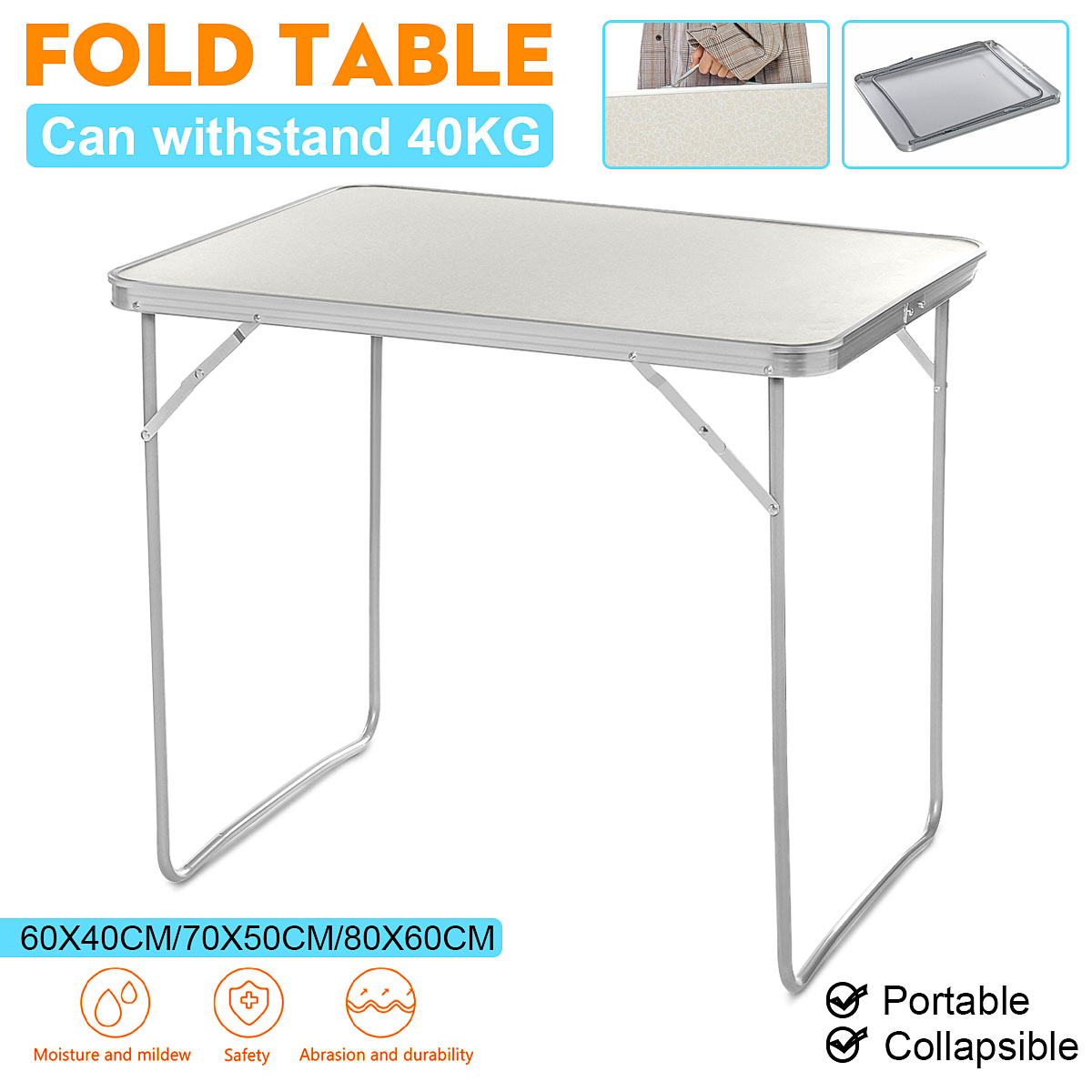 Foldable Table Laptop Desk Camping Outdoor Furniture Computer Bed Table Picnic Aluminum Alloy Folding Desk With Carrying Handle