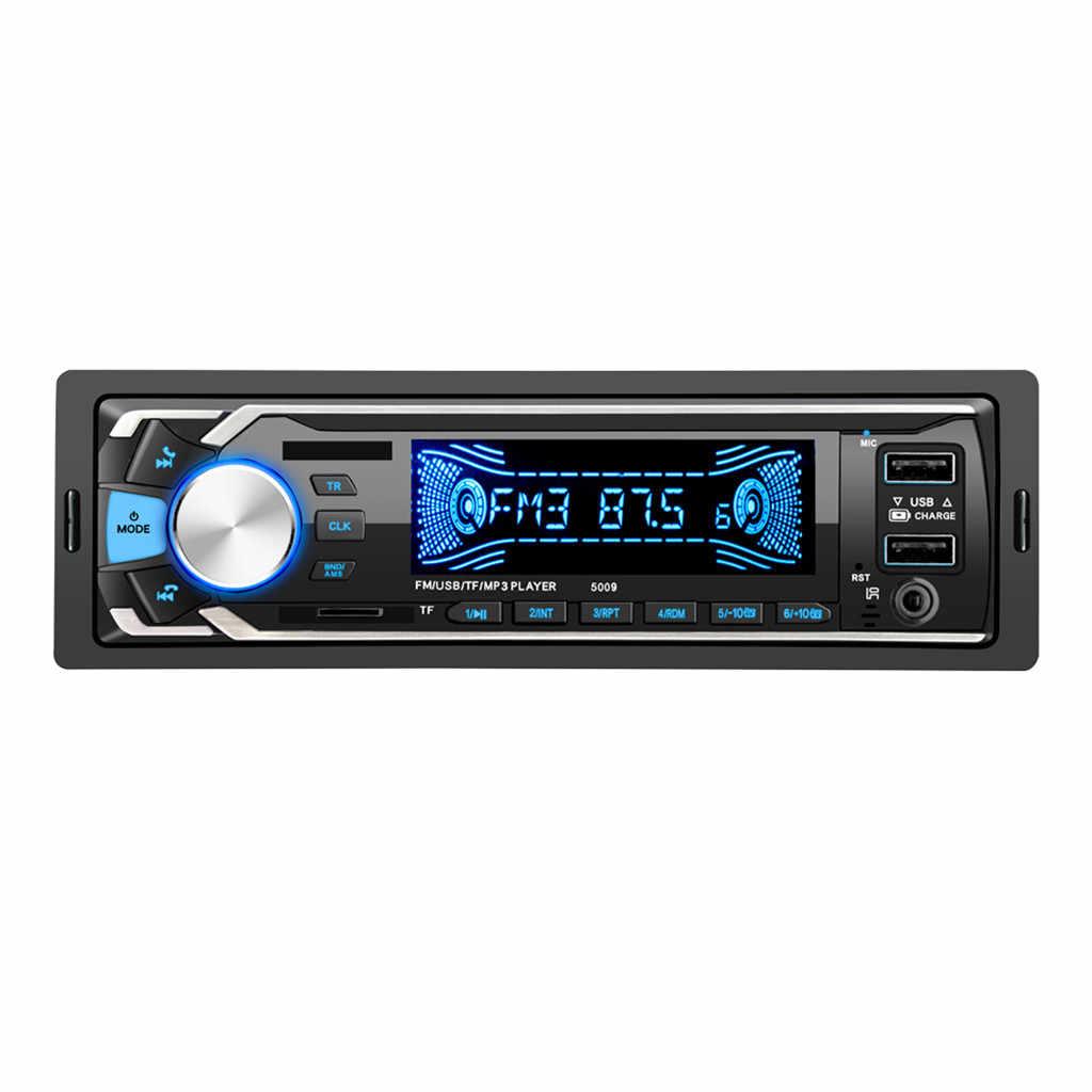 2019 新ブルースクリーンディスプレイ Dc12v 車多機能 Bt 車両 Mp3 プレーヤー Fm ラジオ Aux 音楽 Lcd ディスプレイ高速充電 usb # P15