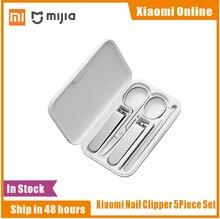 Xiaomi Mijia 5 pièces en acier inoxydable coupe ongles ensemble tondeuse pédicure soins tondeuses Earpick lime à ongles beauté tondeuse professionnel