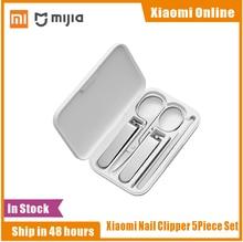 Xiaomi Mijia 5pcs สแตนเลสสตีลเล็บ Clippers ชุด Trimmer Pedicure Care Clippers Earpick เล็บแฟ้มความงาม Trimmer Professional