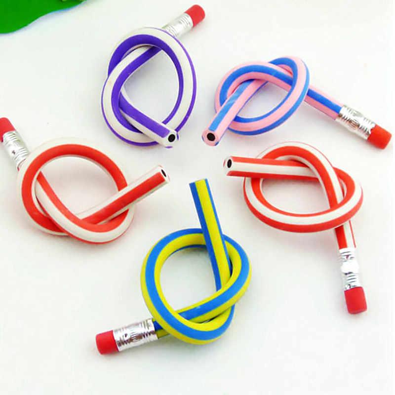 צבעוני קסם גמיש רך עיפרון עם מחק מכתבים תלמיד גומי עופרת עפרונות בית ספר ציוד משרדי אקראי צבע