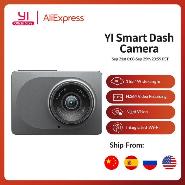"YI Smart Dash Camera 2.7"" Screen Full HD 1080P 165 degree Wide Angle Car DVR Vehicle Dash Cam with G Sensor Night Vision"