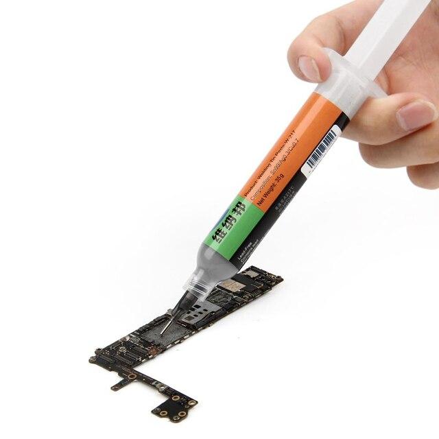 10cc seringa líquido solda estanho pasta sem chumbo de alta temperatura 21717ponto de fusão de solda estanho fluxo bga pcb ferramenta de reparo