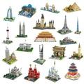 YZ Architecture Taj Mahal Castle Pisa  Лувр  Пизанская башня  Khalifa Tower Bridge  алмазные мини-блоки  строительные игрушки  без коробки