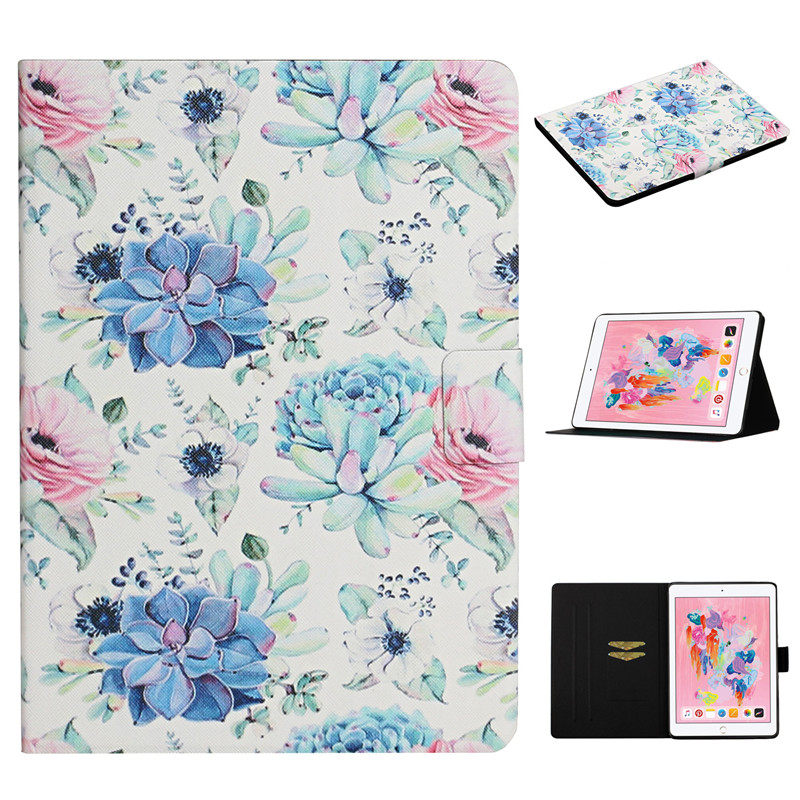 Generation for Case 2 7th iPad iPad for 2019 Cover Painted 10 Funda Case Flower Apple