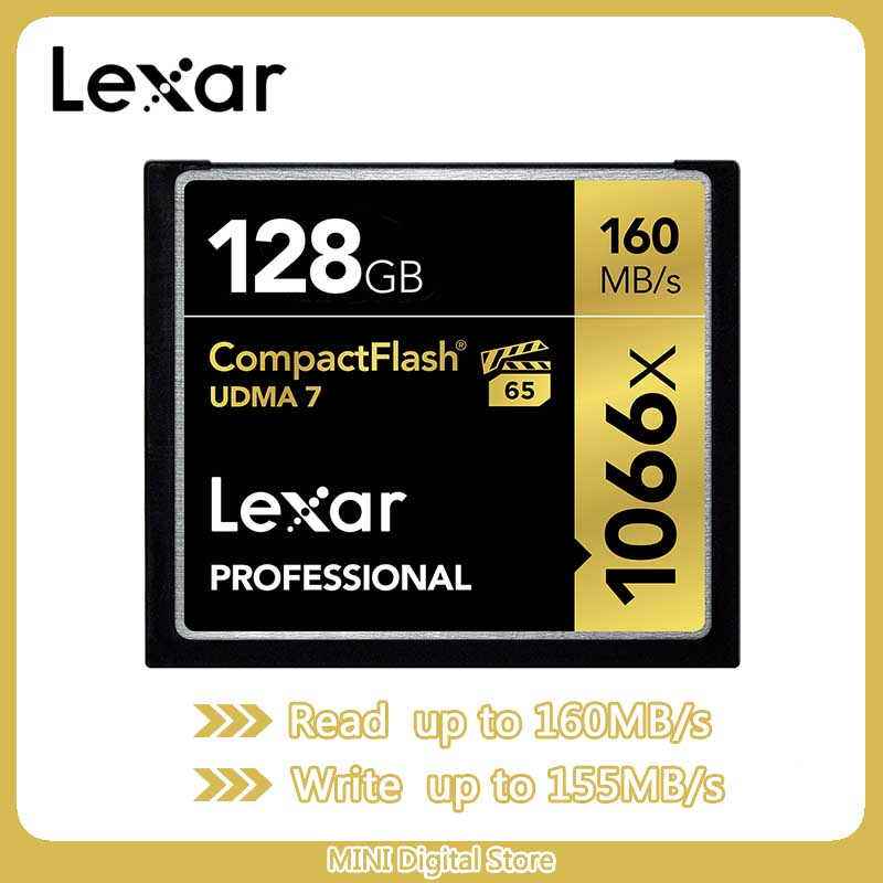 Lexar UDMA 7  CF Card 1066x Memory Card Up To 160MB/s VPG-65 128gb 64gb  32gb Compact Flash Card For Full HD/3D And 4K Video