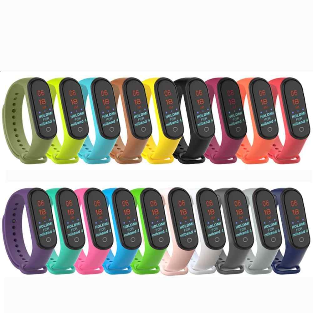 Mode Voor Xiao mi mi band 4/3 vervanging strap Sport Siliconen Band Polsband Armband Twee-Tone vervanging band