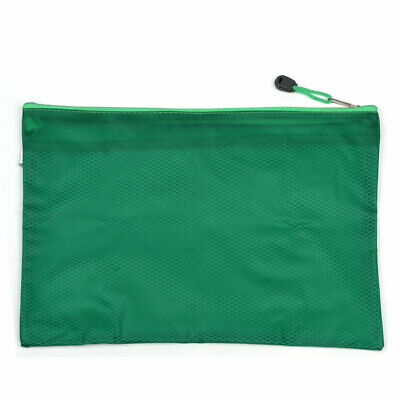 Water Proof 33.5 X 25cm Two Compartment Paper Holder File Bags Pocket Green
