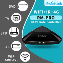 BroadLink RM Pro+ WiFi Smart Home Hub IR RF All in One Automation Learning Universal Remote Control Compatible for Apple Android 2019 broadlink rm03 rm pro rm3 pro automation smart home wifi ir rf 4g intelligent universal remote control for ios android