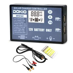 Image 1 - Dokio柔軟な折りたたみソーラーパネル専用12vバッテリー用usbソーラーコントローラ10A/20Aソーラーコントローラ