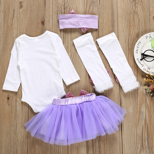 My First Easter Baby Girls Clothes Set Newborn Baby Long Sleeve Letter Romper Tutu Skit Bow Leg Headband Set Clothes For Photo | Happy Baby Mama