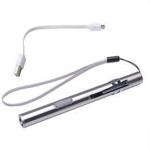 Совершенно новые и высококачественные портативные USB перезаряжаемые светодиодные фонари водонепроницаемый брелок с мини-фонариком водоне...