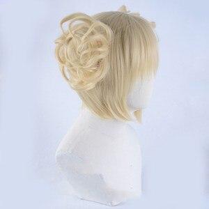 Image 4 - Peluca Boku no Hero Academia de My Hero Academia, Himiko Toga, Cosplay de estilo corto Rubio + gorro de peluca