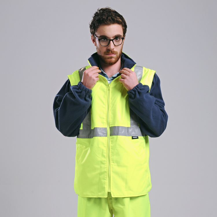 Image 4 - EN471 ANSI/SEA 107 AS/NZS  Hi vis waterproof 5 in 1 jacket with reflective tape safety workwear winter jacket-in Safety Clothing from Security & Protection