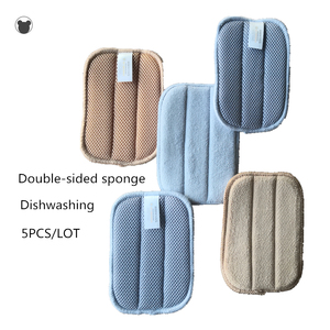 NEW 5PCS Kitchen sponge better than melamine sponge microfiber dishcloth double-sided magic sponge kitchen towels cleaning cloth(China)