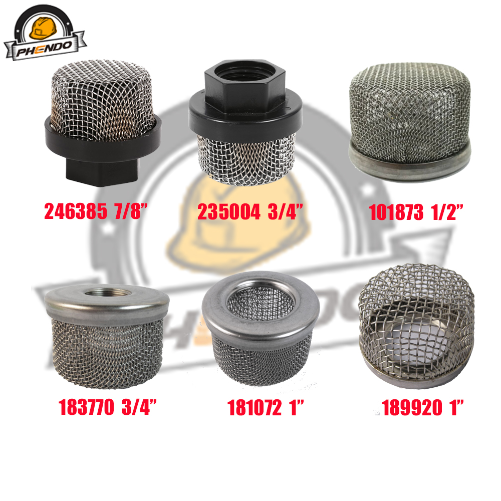 1pc Inlet Suction Filter Strainer Professional Sprayer Filter Strainer Mesh Filter Intake Hose for Ultra Airless Sprayer 390 395 495 595