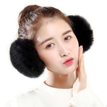 Earmuff Headband-Accessories Ear-Warmer Earlap Winter Women Fashion Rabbit Fur Girl VISNXGI