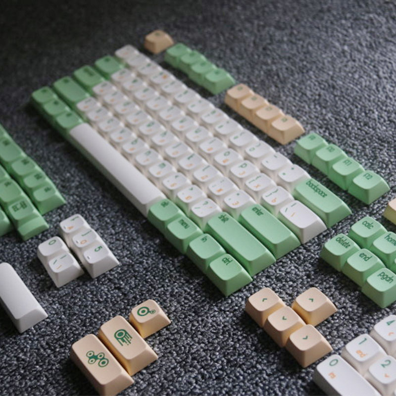 Retro Ttheme Keycaps Heat Sublimation Process High Graft PG Height Keycap Mechanical Keyboard Key Cap