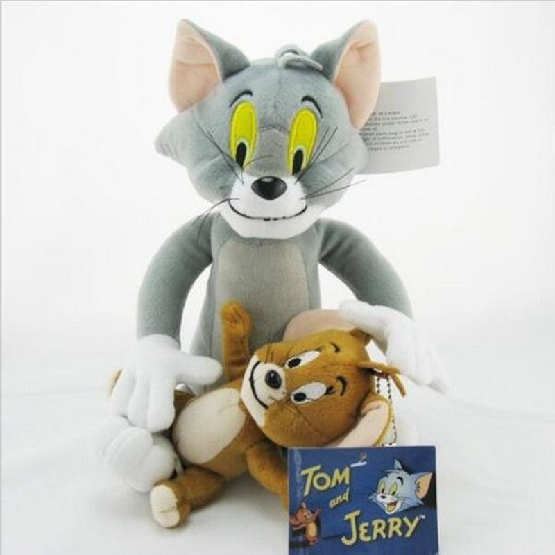 2pcs/set Cute Tom Jerry Mouse Soft Toys Animal Stuffed Plush Dolls For Kids Gifts