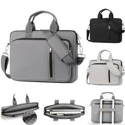 Saco do portátil luva caso maleta bolsa de ombro notebook capa para 11 13 14 15.6 17 polegada macbook ar asus acer lenovo dell hp