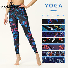 NADANBAO 2019 SEXY Prints Women Yoga Pants High Waist Sport Leggings Workout Gym Jogging Femme Mid-Rise Activewear