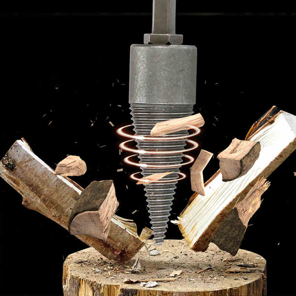 Firewood Splitter Machine Drill Wood Cone Reamer Punch Driver Firewood Drill Bit Wood Cut Tool