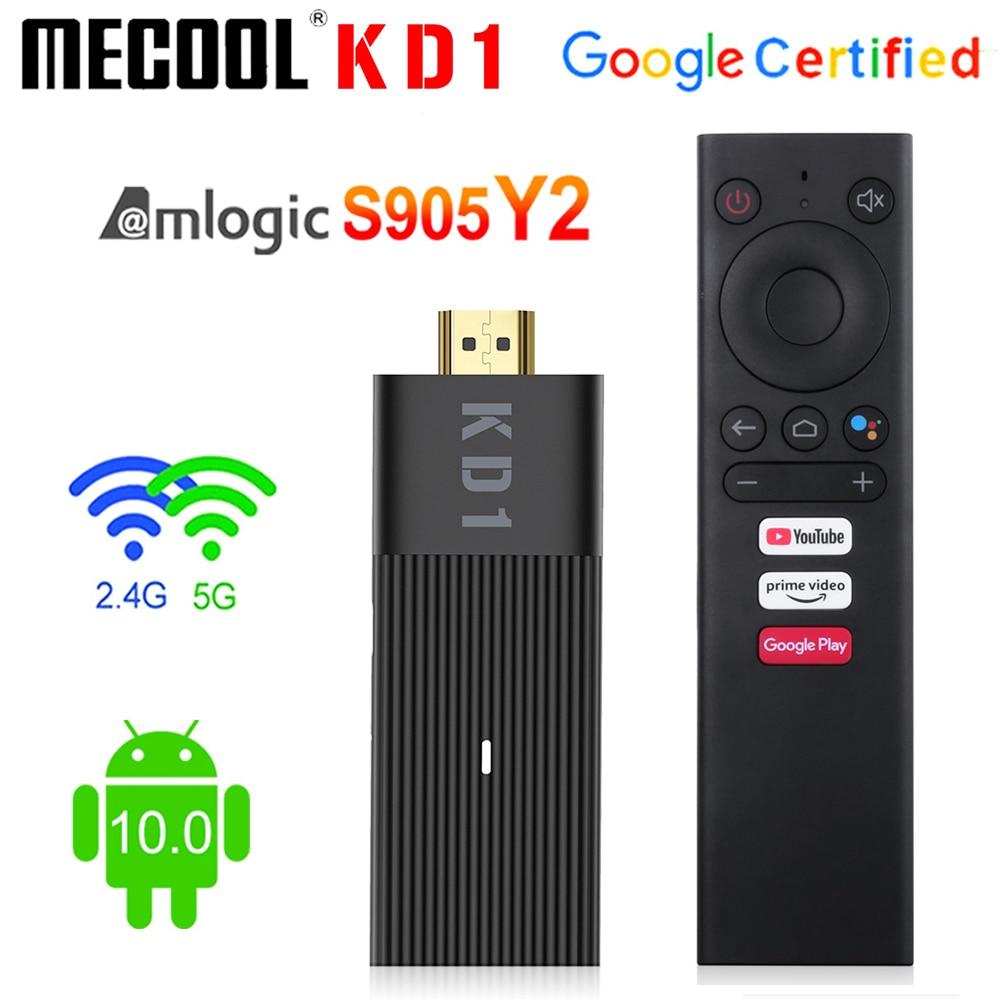 Global Mecool KD1 Smart TV Stick Amlogic S905Y2 TV Box Android 10 2GB 16GB Google Certified 1080P 4K 2.4G&5G Wifi BT TV Dongle - ANKUX Tech Co., Ltd