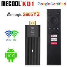 Глобальный Mecool KD1 Smart TV Stick Amlogic S905Y2 ТВ приставка Android 10, 2 Гб оперативной памяти, 16 Гб встроенной памяти, Google Сертифицированный 1080P 4K 2,4G & 5G Wi-Fi, ...