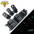 Iluminado led de energia único interruptor da janela conjunto para toyota rav4 camry corolla yaris highlander cruiser vios esquerda condução backlight