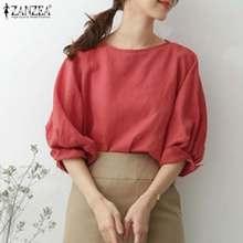 Blouse Shirts Spring Oversized Blusas Tunic 5xl O-Neck Female Casual Women's 3/4-Sleeve