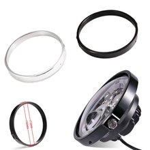 7 cal reflektory LED wykończenia uchwyt do lampy motocykl reflektory pierścień pośredniczący uchwyt motocyklowy czarny chrom uniwersalny
