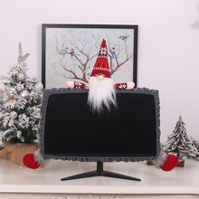 Computer-Dust-Cover for Home 3D Cartoon Forest Old Man New-Year Xmas-Decoration-Gray