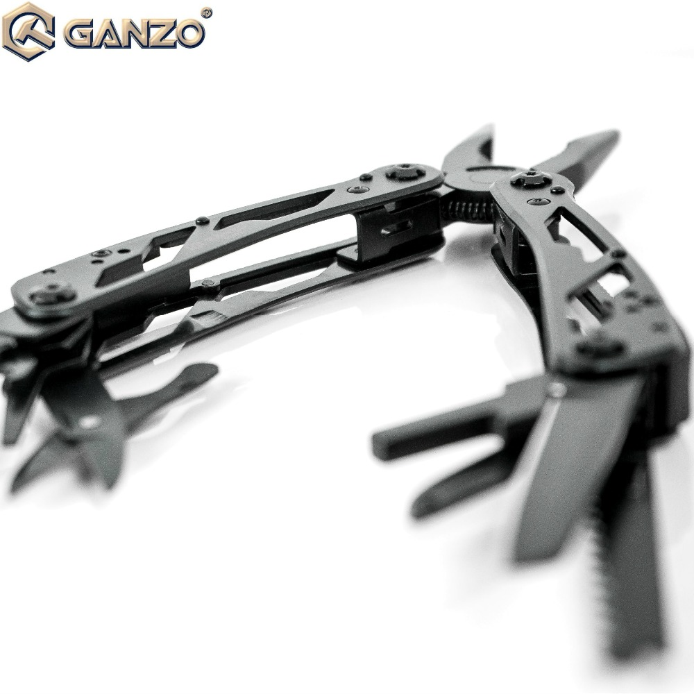 Ganzo G202B MultiTools Set Folding Pliers Fishing Camping Survival EDC Bits Gear Crimper Pocket Knife Plier Wire Cutter Stripper