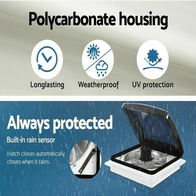 Dc 12v caravan rv roof vent 3speed manual rv vent fan smoke dome vent ventilation cover for camper trailer motorhome accessories