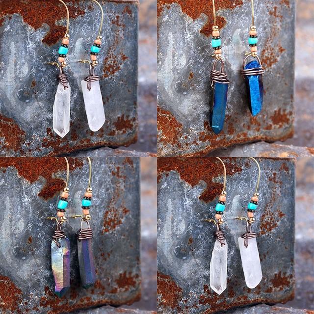 Quartz Crystal Dangle Earrings 3