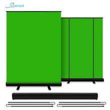 Chromakey tela verde portátil pull up photo studio poliéster algodão foto fundo com suporte para cena virtual vídeo keying