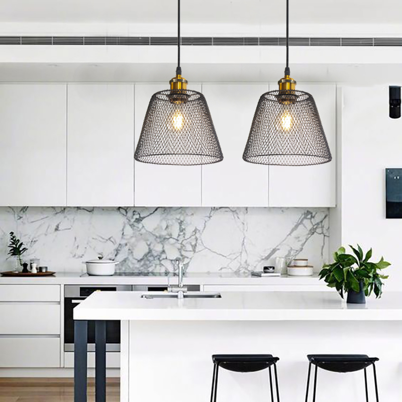 Industrial Pendant Light Iron Restaurant Lamp Minimalist Creative Dining Room Kitchen Island Hanging Light Fixture