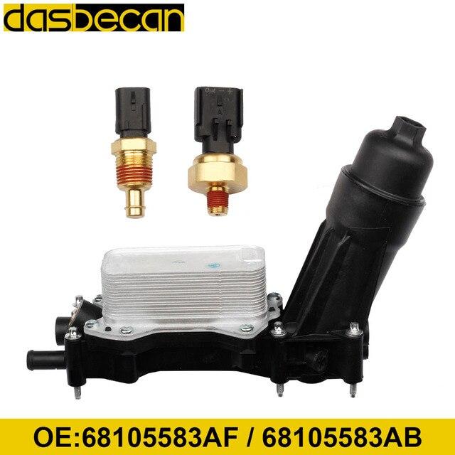 Engine Oil Filter Adapter Housing For Chrysler Dodge Charger Durango Grand Caravan Jeep Wrangler Cherokee  3.6L 3.2L 68105583AF 1
