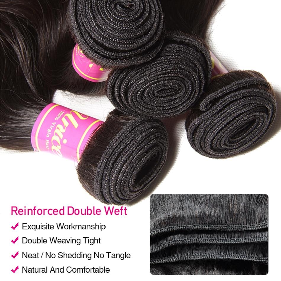 H884d3da625da4dbbab9074e7611a9e051 UNice Hair Brazilian Body Wave Transparent Lace Frontal With 3/4 Bundles 13x4/6 Remy Human Hair Bundle Lace Closure 4/5PCS