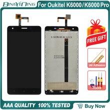 100% الأصلي ل Oukitel K6000/K6000 برو LCD و محول الأرقام بشاشة تعمل بلمس وحدة شاشة عرض الملحقات استبدال