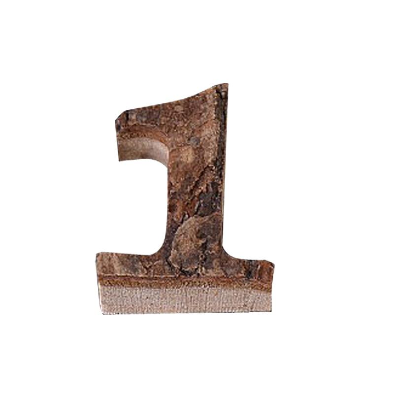 Вместе с коры твердой древесины Ретро Деревянный Английский алфавит номер для кафетерий украшение для дома, ресторана винтажная самодельная буква - Цвет: 1
