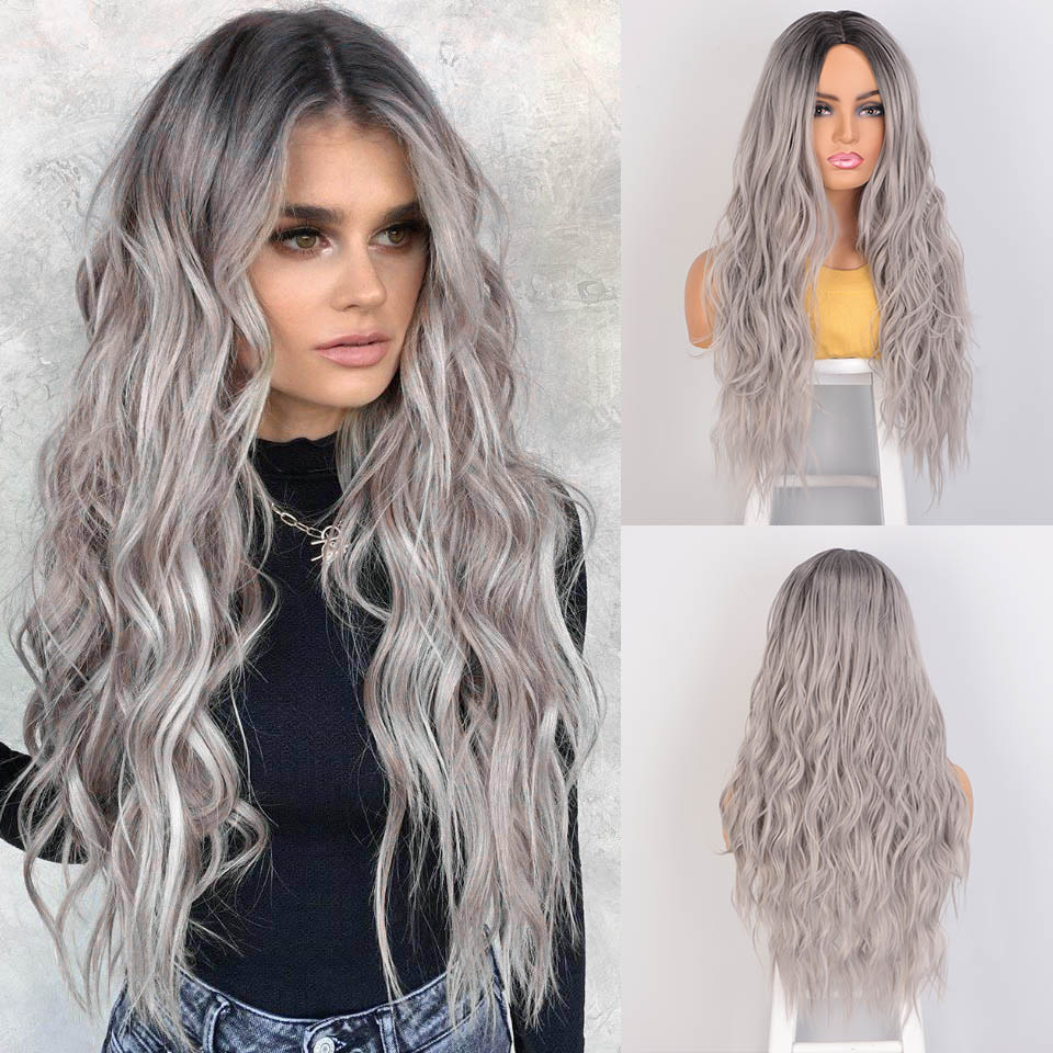 Permalink to -39%OFF AISI BEAUTY Long Wavy Synthetic Wigs Grey Blonde Red Black Women Wigs for African American Middle Part Cosplay Wigs