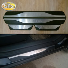 4PCS High-quality Stainless Steel Welcome Pedal Car Scuff Plate Pedal Trim Threshold Door Sill For Opel Astra J H(China)