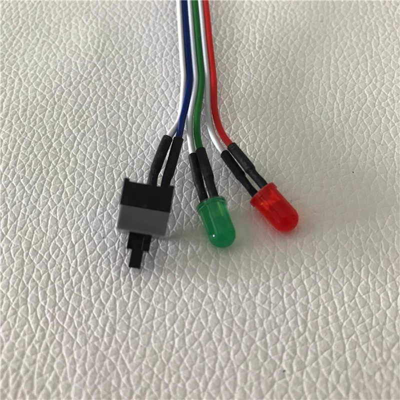 Computador desktop interruptor do chassi botão de reset estado do disco rígido led power led cabo 65cm