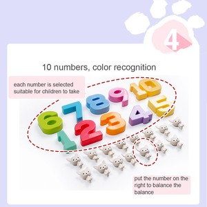 Image 5 - Hond Balance Math Kids Educatief Speelgoed Voor Kinderen Voorschoolse Onderwijs Wedstrijd Balancing Schaal Nummer Spel Leren Optellen En Aftrekken