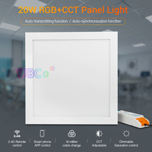 2pcs Miboxer 20W RGB+CCT led Panel Light FUTL03 AC100~240V Smart Square indoor light Smartphone APP WiFi/Alexa Voice Control