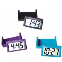 صغيرة ذاتية اللصق سيارة ساعة مكتب ساعة إلكترونية مقاييس شاشة عرض بلورية رقمية-في ساعات الحائط من المنزل والحديقة على